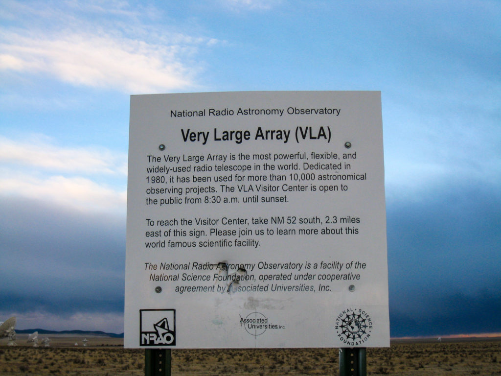 Very Large Array - SIgn